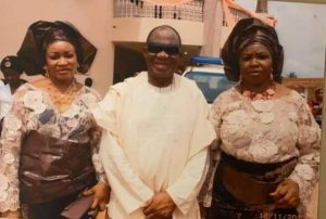 Chief Ikpea and his 2nd wife at their Traditional Wedding